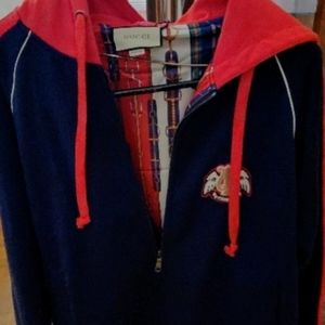 Gucci reversible hoodie with patch sz xl